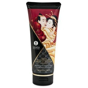 Kissable Massage Cream - Sparkling Strawberry  Wine - 7 Fl. Oz. - 200 Ml