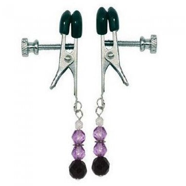Purple Beaded Clamps- Adjustable Broad Tip