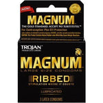 Trojan Magnum Ribbed  Lubricated - 3 Pack
