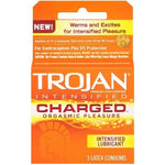 Trojan Intensified Charged Orgasmic Pleasure Condoms - 3 Pack