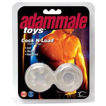 Adam Male Toys Cock N Load Cock Rings - Clear