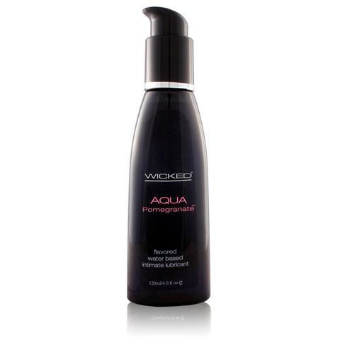 Aqua Pomegranate Flavored Water-Based Lubricant - 4 oz.