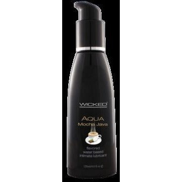 Aqua Mocha Java Flavored Water-based Intimate Lubricant 2 Oz.