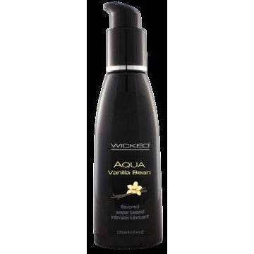 Aqua Vanilla Bean Flavored Water-based Intimate Lubricant 2 Oz.