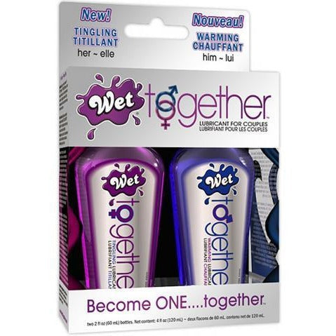 Wet Together Lubricant for Couples - Two 2 oz. Bottles