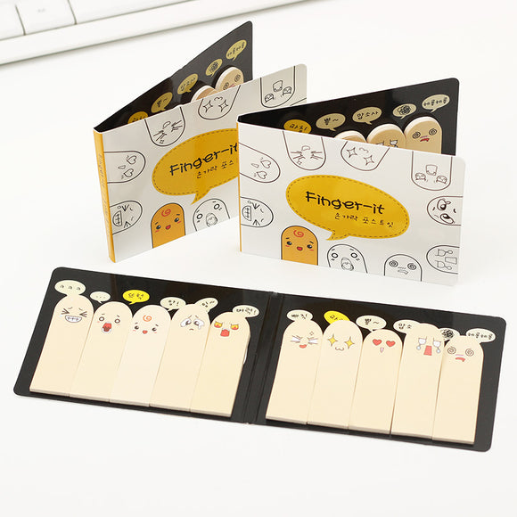 Fingers Faces Bookmark - 2 pack