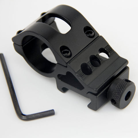45 Degree Offset Mount 30mm Ring 20mm Picatinny Rail 45° Quad Offset Weaver Flashlight Scope Mount