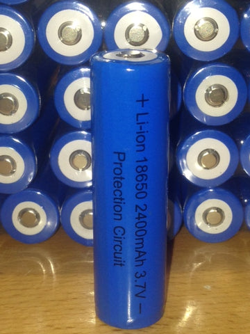 18650 Rechargeable Flashlight Battery Samsung Core 2400Mah with Printed Circuit Board