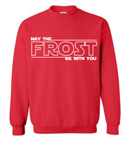 May the FROST Be With You - Crewneck Sweatshirt - RED