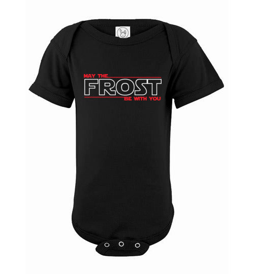 May the FROST Be With You - Infant Fine Jersey Bodysuit - BLACK