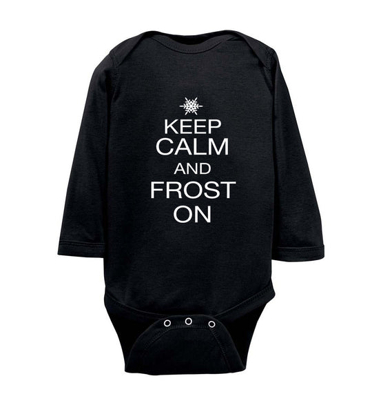 Keep Calm and Frost On - Infant Long Sleeve Bodysuit