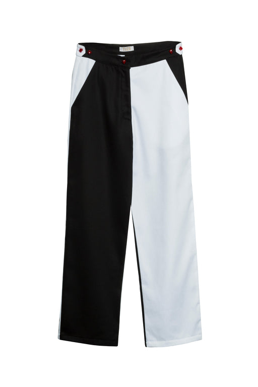 Black and White Trousers