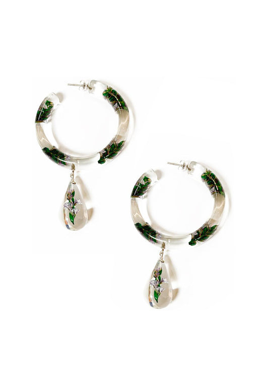 Jacarandas Perpetua Hoop Drop Earrings