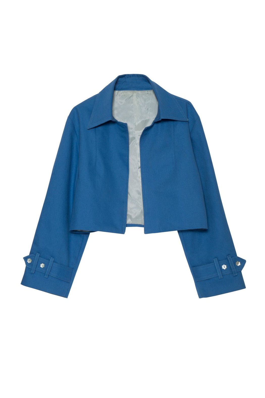 Jacarandas Cropped Denim Jacket