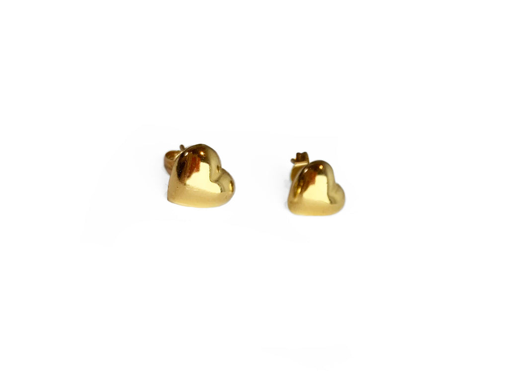 Full Heart Stud Earrings