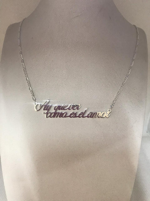 AY QUE VER COMO ES EL AMOR TAG NECKLACE TYPE