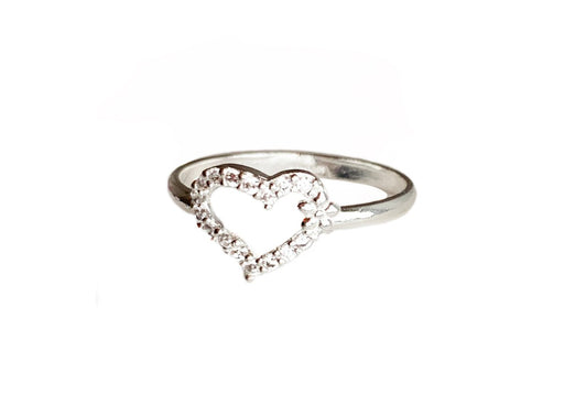 Sparkling Heart Ring
