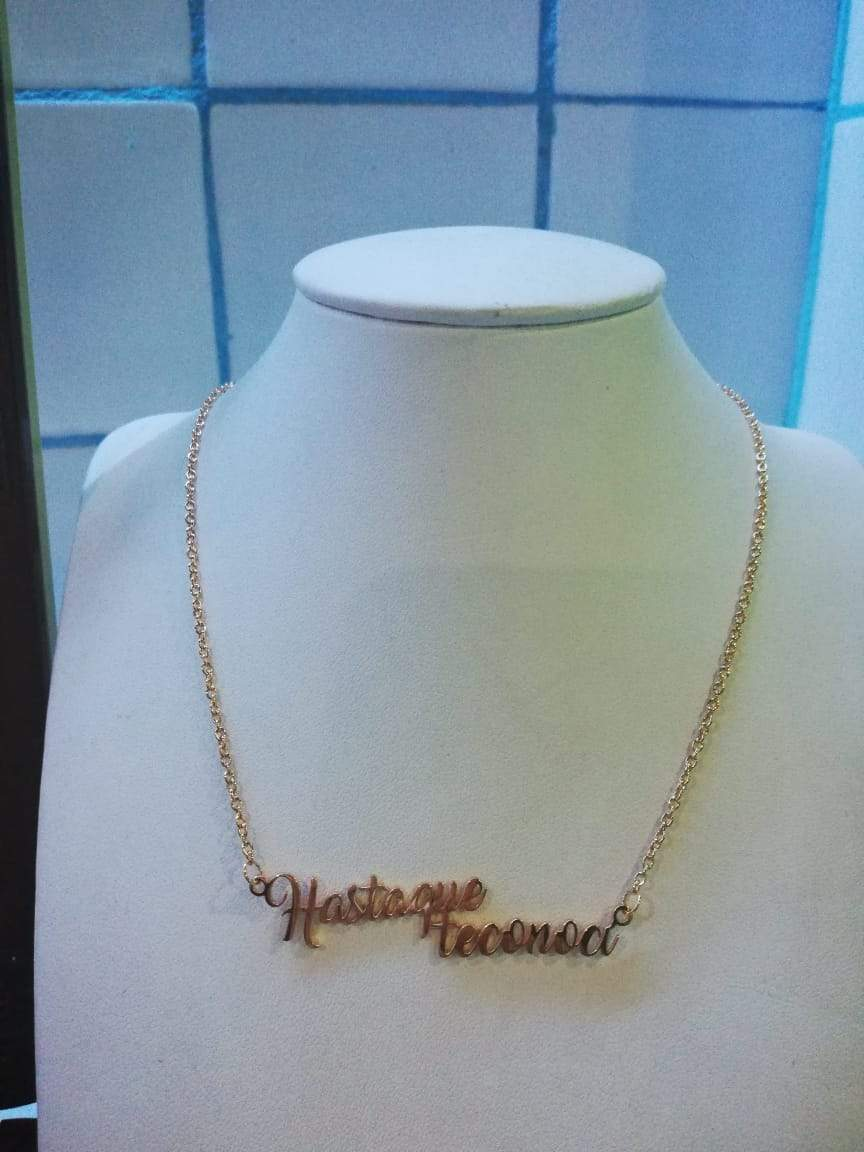 HASTA QUE TE CONOCI TAG NECKLACE
