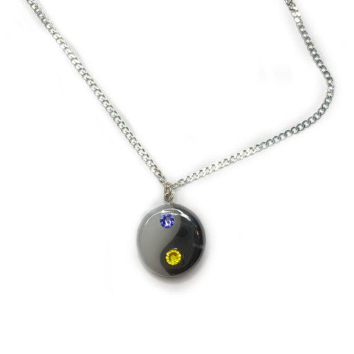 YIN YANG RESIN NECKLACE