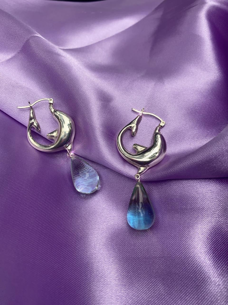 Dolphin Hoops + Resin Drop