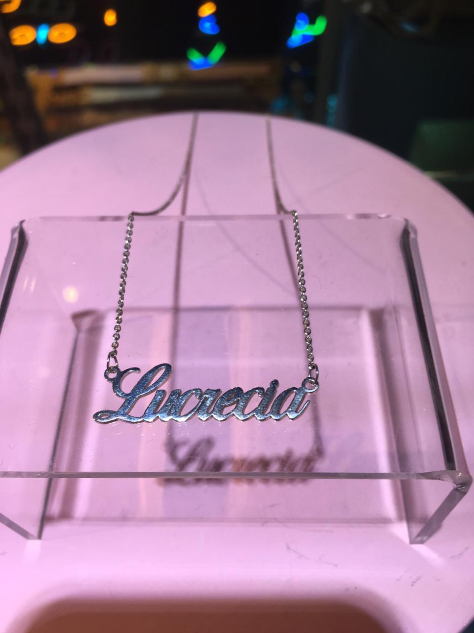 LUCRECIA TAG NECKLACE