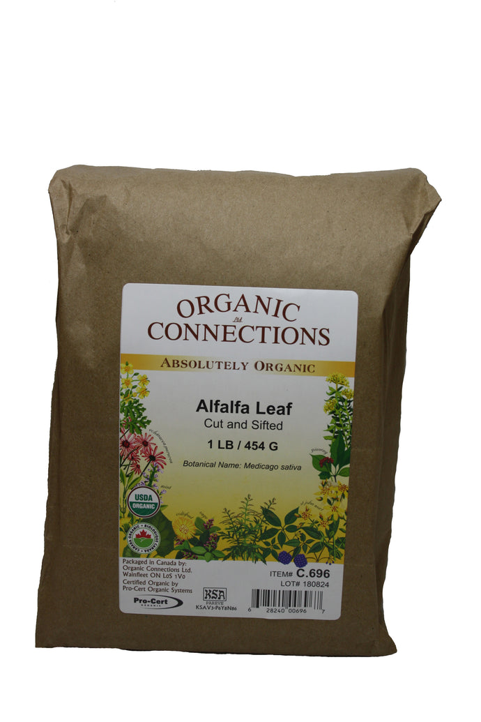 Organic Connections, Alfalfa Leaf, Cut and Sifted, Organic (1 lb)