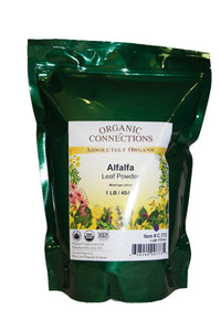 Organic Connections, Alfalfa Leaf Powder, Organic (1 lb)
