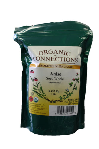 Organic Connections, Anise Seed, Whole, Organic (1 lb)