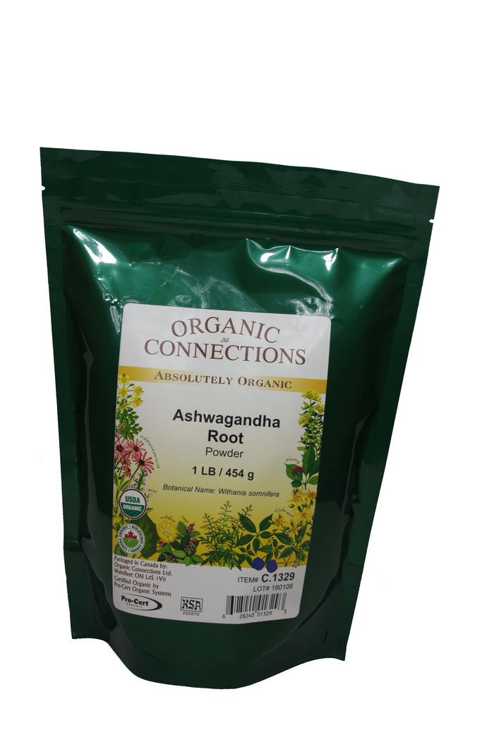 Organic Connections, Ashwagandha Root Powder, Organic (1 lb)