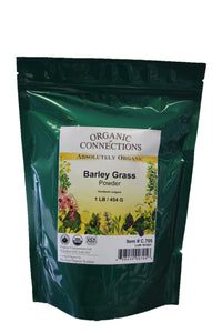 Organic Connections, Barley Grass Powder, Organic (1 lb)