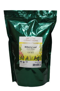 Organic Connections, Bilberry Leaf, Cut and Sifted, Organic (1 lb)