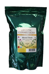 Organic Connections, Blessed Thistle Herb, Cut and Sifted, Organic (1 lb)