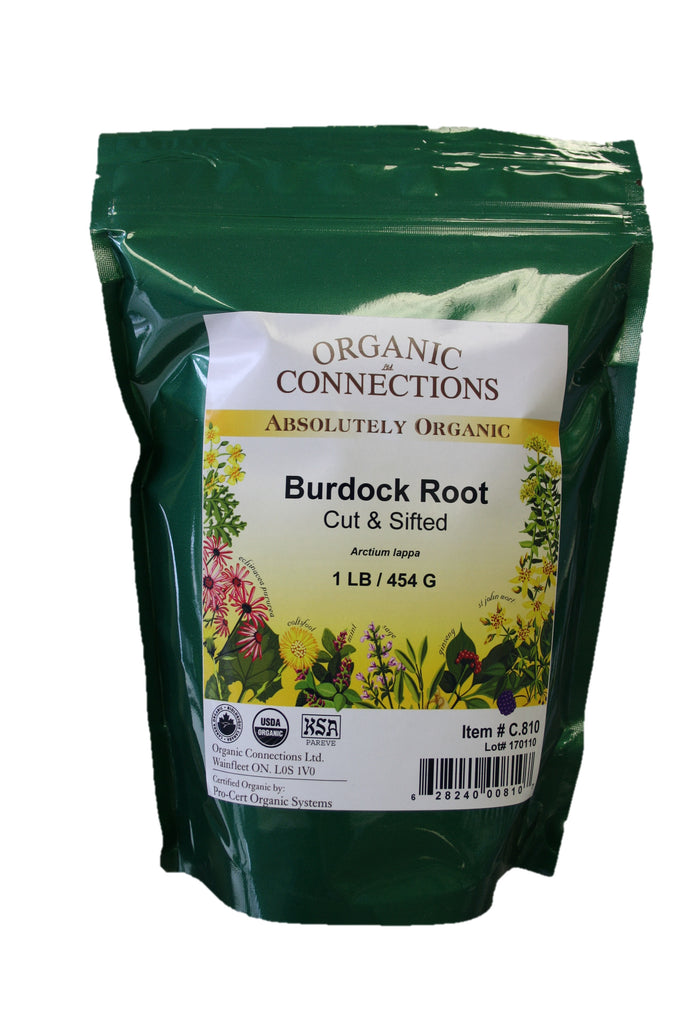 Organic Connections, Burdock Root, Cut and Sifted, Organic (1 lb)