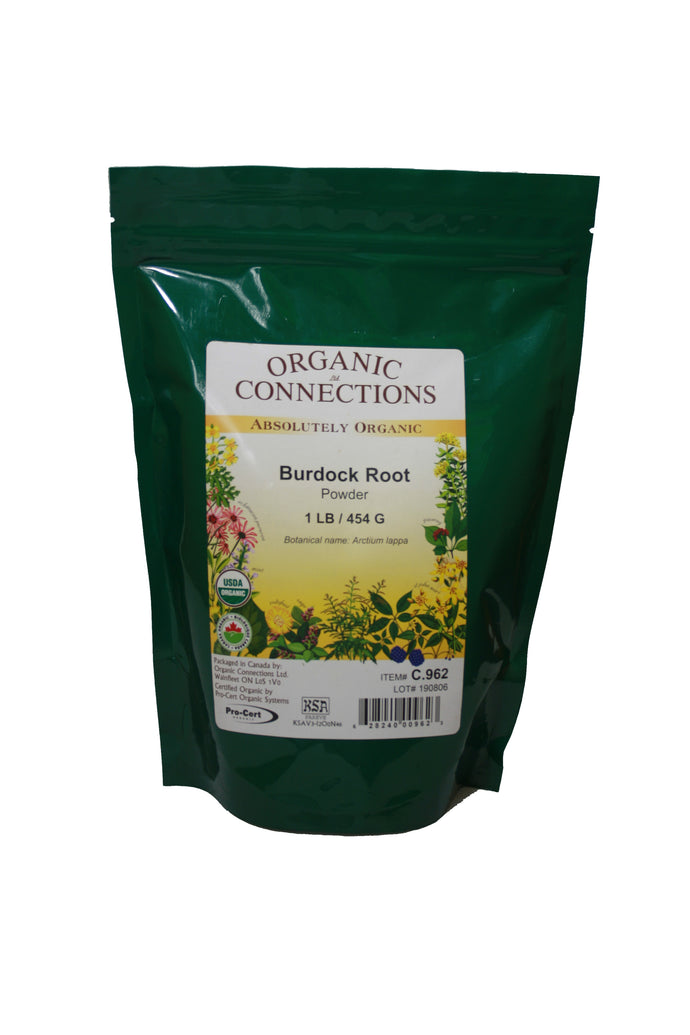 Organic Connections, Burdock Root Powder, Organic (1 lb)