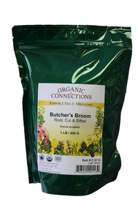 Organic Connections, Butcher's Broom Root, Cut and Sifted, Organic (1 lb)