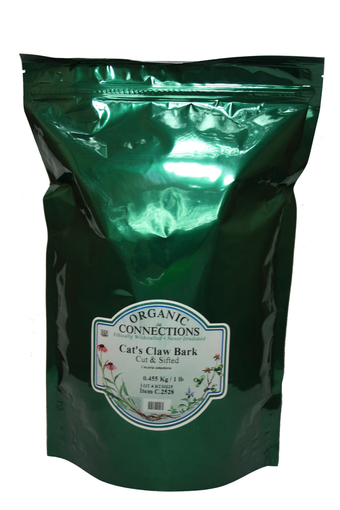 Organic Connections, Cat's Claw Bark, Cut and Sifted, Wildcrafted (1 lb)