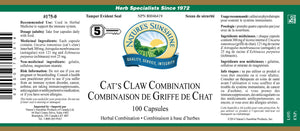 Nature's Sunshine Products, Cat's Claw Combination, 446 mg (100 Capsules)
