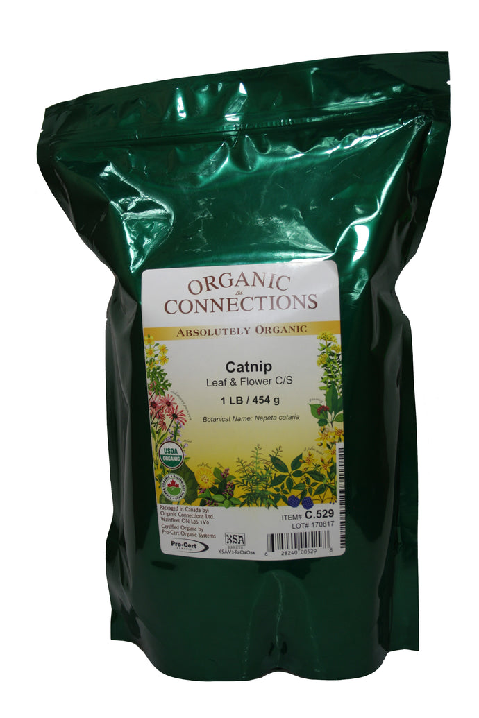 Organic Connections, Catnip Leaf and Flower, Cut and Sifted, Organic (1 lb)