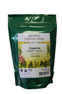 Organic Connections, Cayenne Pepper, Medium, Organic (1 lb)