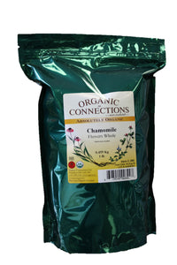 Organic Connections, Chamomile Flowers, Whole, Organic (1 lb)