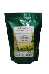 Organic Connections, Chili Peppers, Red, Crushed, Organic (1 lb)
