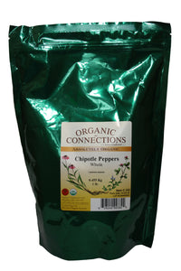 Organic Connections, Chipotle Peppers, Whole, Organic (1 lb)