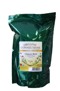 Organic Connections, Cleavers Herb, Cut and Sifted, Organic (1 lb)