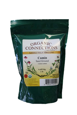 Organic Connections, Cumin Seed, Ground, Organic (1 lb)