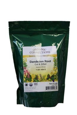 Organic Connections, Dandelion Root, Cut and Sifted, Organic (1 lb)