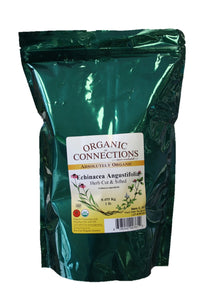Organic Connections, Echinacea Angustifolia Herb, Cut and Sifted, Organic (1 lb)