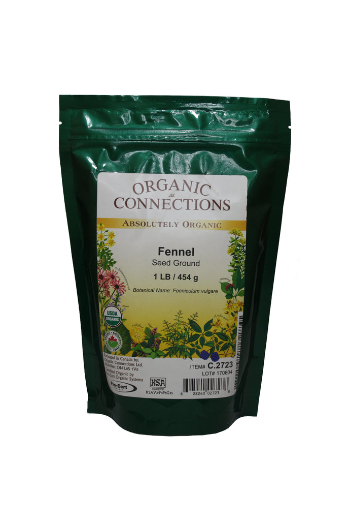 Organic Connections, Fennel Seed, Ground, Organic (1 lb)