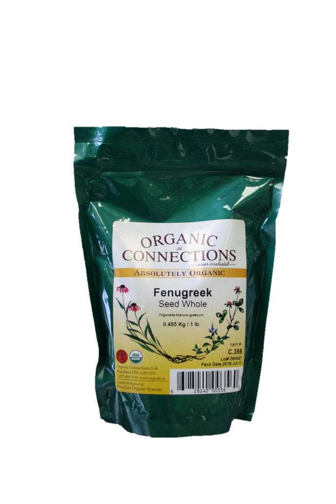 Organic Connections, Fenugreek Seed, Whole, Organic (1 lb)