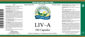 Nature's Sunshine Products, LIV-A (100 Capsules)