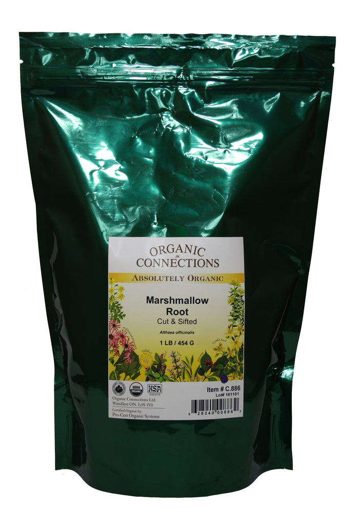 Organic Connections, Marshmallow Leaf, Cut and Sifted, Organic (1 lb)